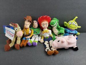 Disney Toy Story Bean Bag Plush Set 7 Woody Buzz Jessie Rex Bullseye Alien Hamm