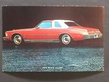 1974 BUICK RIVIERA promotional postcard (for dealers use).......EVER OWN ONE????