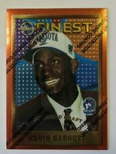 Kevin Garnett 1995-96 Topps Finest Rookie WITH coating #115