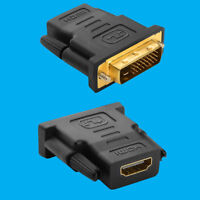 HDMI Female to DVI-D Male Adaptor, Socket to Plug Connector, 1080p TV PC Laptop