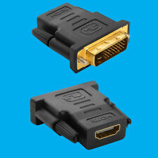 HDMI HEMBRA A Dvi-d Adaptador macho, conector enchufe, 1080p TV PC Portátil