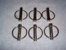 """6 - 7/16"""" NEW LYNCH PINS LOT ZINC PLATED PIN SPRING LOADED RING hardware Tractor"""