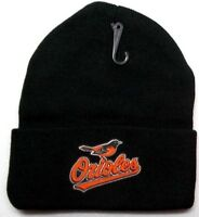 READ LISTING! Baltimore Orioles HEAT Applied Flat Logo on Beanie Knit Cap hat!1