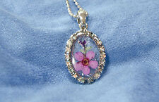 HAND MADE JEWELLERY,REAL FLOWERS  PENDANT-(OVAL)