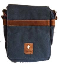 Denim Blue Cactus Small Cross Body/Messenger Bag. Size: 24 X 20 X 10cm
