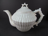 Irish Belleek 218 Tea Pot Limpet Pattern 3rd Black Mark Vintage 1926-1946