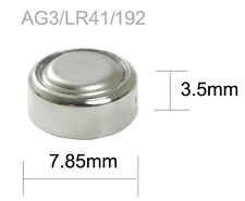 1x SR41W SR41 LR41 AG3 192 392 V392 1.55v Silver Oxide Button Watch Battery BULK