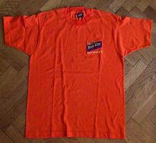 NOS VTG 1990s Run-Rite Logo, Caterpillar Company Orange T Shirt Adult L-Car Care