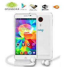 "ANDROID 4.4 KK 5.5"" CAPACITIVE TOUCH 3G (WHITE) DUAL-SIM SMARTPHONE UNLOCKED!"