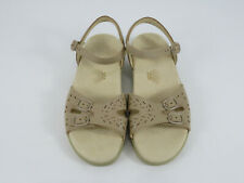 SAS Women's Shoes Duo Ankle Strap Sandal Natural Beige Size 8.5 Wide, New