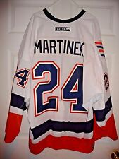 RADEK MARTINEK GAME WORN USED ISSUED JERSEY ISLANDERS SZ 56 HAND SIGNED MEIGRAY