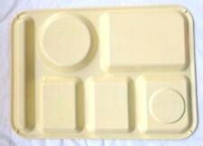 Set of Vintage King Line Plastic Ware School LUNCH TRAYS Yellow Dinner Camping