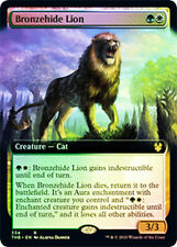 1X NM Foil Bronzehide Lion Extended Art THB Magic the Gathering