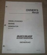 Generac Qs 80d Quicksilver Marine Generator Diesel Owners Amp Maintenance Manual
