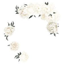 White Peony Rose Flowers Blossom Kid Wall Sticker Home Nursery Decor Baby D O6K3