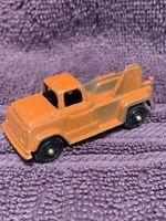 "Vintage TootsieToy orange Tow Truck Wrecker Truck 2 1/2"" long USA"