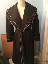 Vintage Voyager West Youthcraft Trench Coat Black/Tan  M/L Women All Weather
