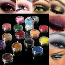 16 Glitter Mixed Color Makeup Powder Eyeshadow Eye Shadow Cosmetics Salon Set