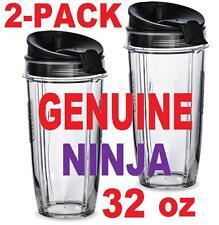 LOT 2 Ninja 32oz Cup+Lid for Blender BL450 BL454 Auto-iQ BL480 BL481 BL482 BL687