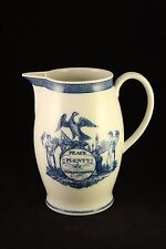 Mottahedeh Blue White Porcelain China Peace Plenty and Independence Pitcher Pot