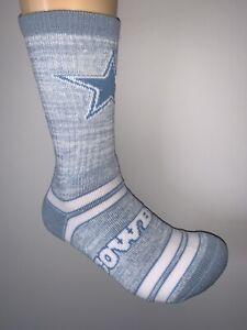 DALLAS COWBOYS BLUE NFL FOOTBALL JERSEY LOGO WOMENS LOVE CREW LENGTH SOCKS MED