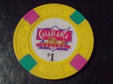 New ListingCasablanca Hotel Casino $1 hotel casino gaming poker chip ~ Palm Beach, Aruba