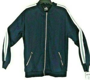 'Cougar' Jacket/Windbreaker Sport Mens Large Navy Blue Zip Front Zip Pockets NWT