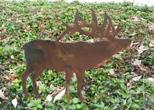 Rusty Cow Silhouette Farm Garden Stake Lawn Ornament Amish Made in USA