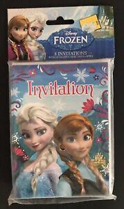 Disney's Frozen Birthday Party Invitations Elsa Anna 8 with Envelopes NEW Olaf