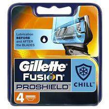 4 x Gillette Fusion ProShield Chill doch Herren Ersatz kühlende Tech