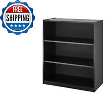 Wood Bookcase Adjustable 3 Shelf Storage Shelving Book Bookshelf Home Furniture
