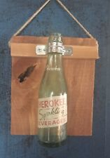 Vintage Cherokee Sparkling Beverages Glass Bottle 6-1/2 Oz Knoxville TN Mounted