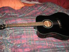 Guitar - Fender, Acoustic, BLACK, SLIGHTLY USED with CASE