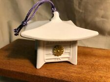 Japanese Chinese Porcelain bell, Pagoda, vintage original, pre-owned