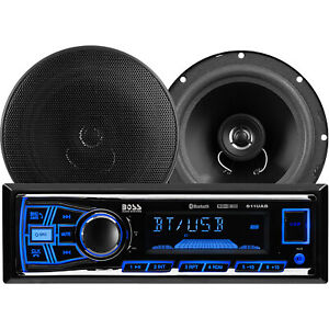 BOSS Audio Systems 638BCK Bluetooth DM Receiver Bundle Car Stereo Pack, Black