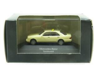 Herpa Modellauto Mercedes Benz Taxi Model Cream 1 87 Scale Dealer Model Boxed