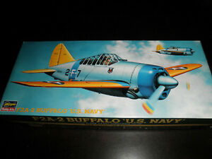 1/72 F2A-2 BUFFALO US Navy Carrier-Borne Fighter by Hasegawa