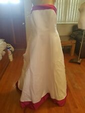 David's Bridal wedding dress size 18W white/azalea style 9E8052