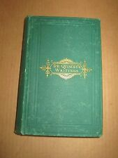 Confessions of an English Opium Eater, De Quincey (1873) newton theological inst