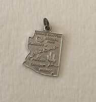 Vintage Arizona State Charm for Bracelet Wells Sterling Silver EUC
