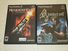 Resident Evil Outbreak & Resident Evil Four   for Ps2 used In VG Cond No  Manual
