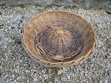 Ancienne panière panier à pain miche en osier de boulanger déco chalet Savoie