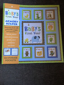 Baby's First Year : Memory Keeper and Photo Album (Boy) (2012, Spiral)