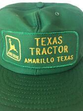 John Deere Texas Tractor Amarillo Patch Vint Cap Snapback Truck Hat Louisville