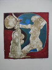 """Lithographie Originale de Gérard LECOMTE     """" NU I I """"  ."""