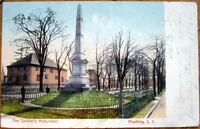 1907 Postcard: 'The Soldier's Monument - Flushing, Queens, New York, NY'