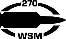 270 WSM gun Rifle Ammunition Bullet exterior oval decal sticker car or wall
