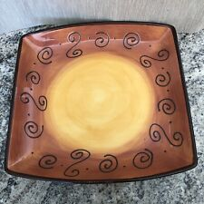 Tabletops Lifestyles Ambrosia Tangerine Orange Brown Large Serving Plate 11�