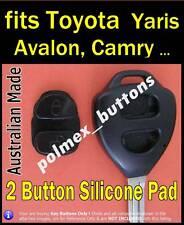 fits Toyota Yaris Avensis Camry Corolla Rav4 remote - 2 key Buttons Repair Pad