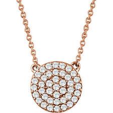 RACIMO DE DIAMANTES 40,6 -45 , 7cm Collar en 14k oro rosa ( 1/3ct. TW
